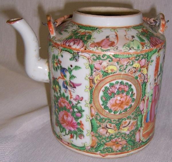 14: 19th century Rose Medallion tea pot.