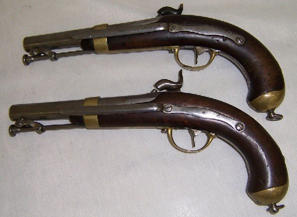 251: Pair of French percussion belt pistols