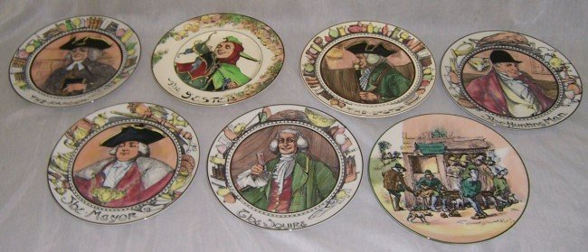 20: Set of (7) Royal Doulton portrait plates.