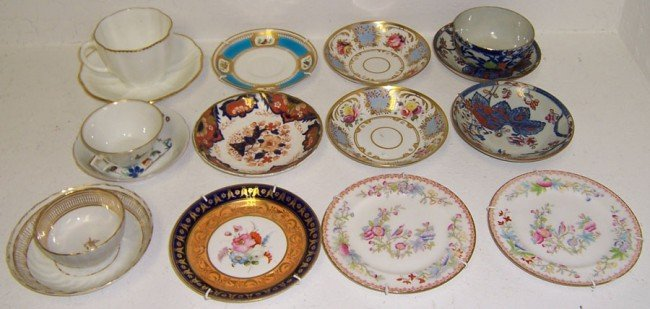 15: Collection of English porcelain.