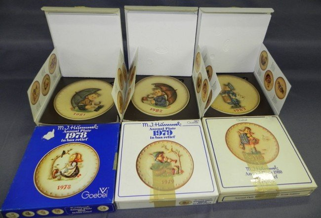3: (6) Hummel plates  1978-1983,w/ orig. boxes.