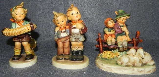 9: (3) Hummel figurines- 1 with original box.