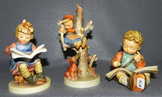 11: (3) Hummel figurines- (2 with original boxes)