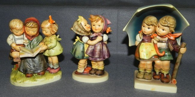 15: (3) Hummel figurines- 2 with original boxes.
