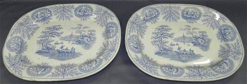 95 2 19th century Staffordshire chargers