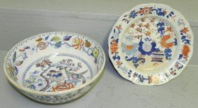 13: Masons ironstone hp bowl & under plate.