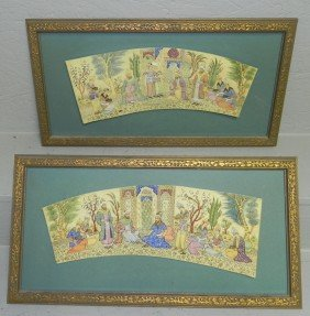 14: (2) framed hp ivory or bone Easter scenes.