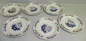21: Set of (6) Davenport decorated plates.