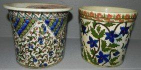 Pair Faience Type Portugal Jardini�res