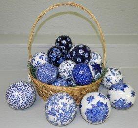 2: (25) Ceramic blue and white balls