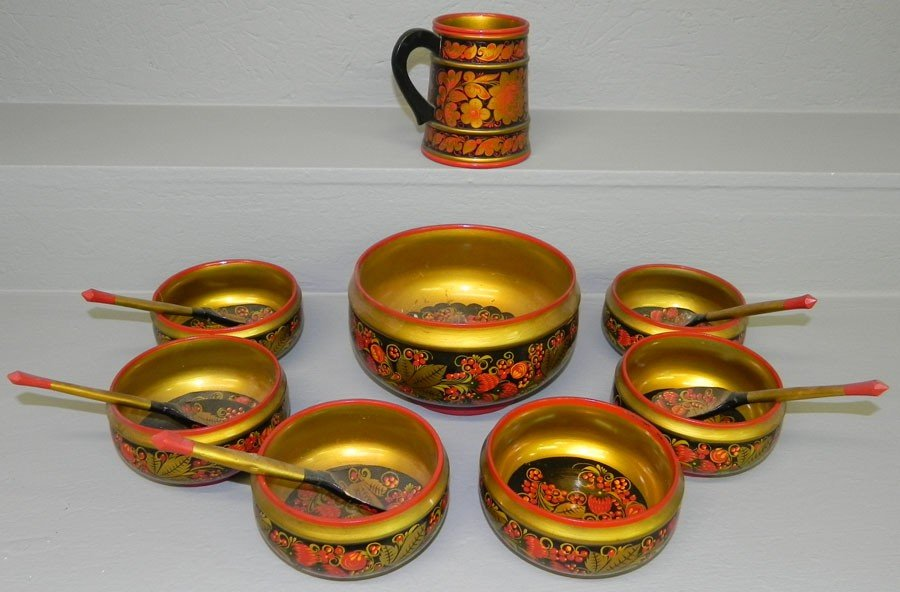 6: (13) Pieces lacquer ware