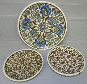 10: (2) Turkish small plates, (1) larger Turkish plate