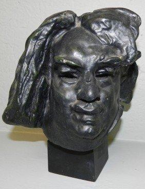 11: Molded bust (copy of Rodin)