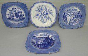 12: (3) HP Earthenware China plates, 1 Spode plate