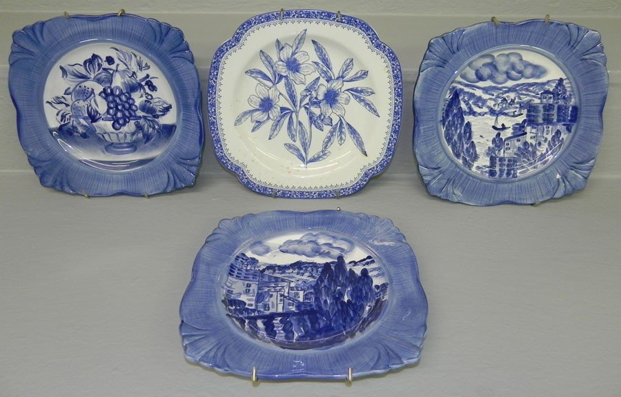 12: (3) HP Earthenware China plates, 1 Spode plate