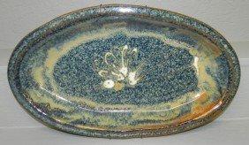 "14: Stoneware platter (18"" x 10 1/2"")"