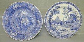 19: (2) Spode collector plates