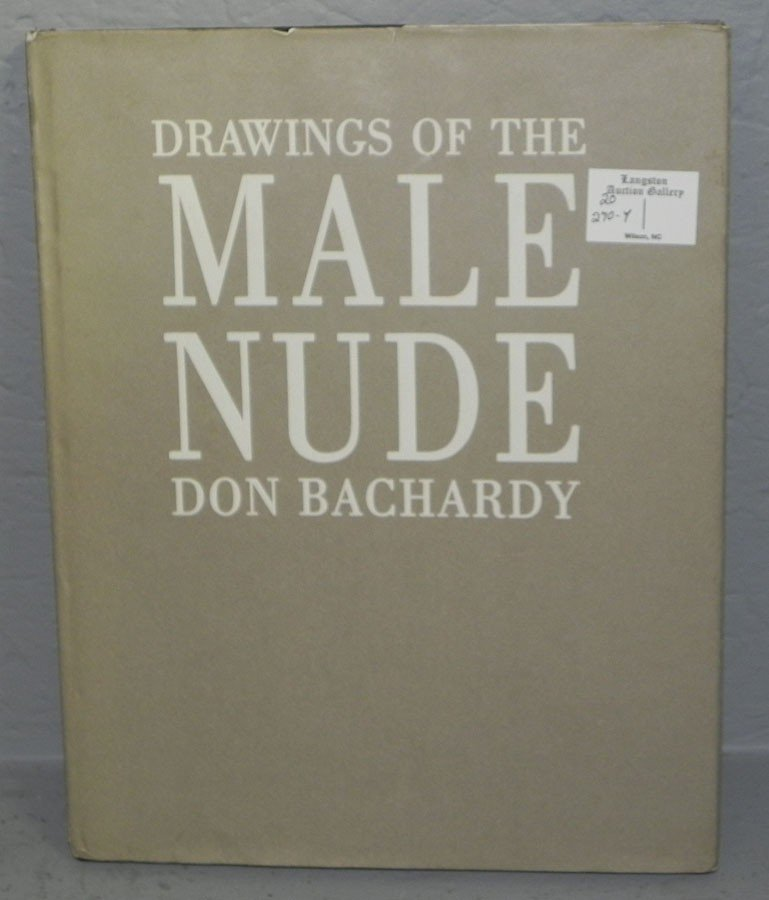 "270Y: ""Drawings of the Male Nude"" signed by Don Bachard"