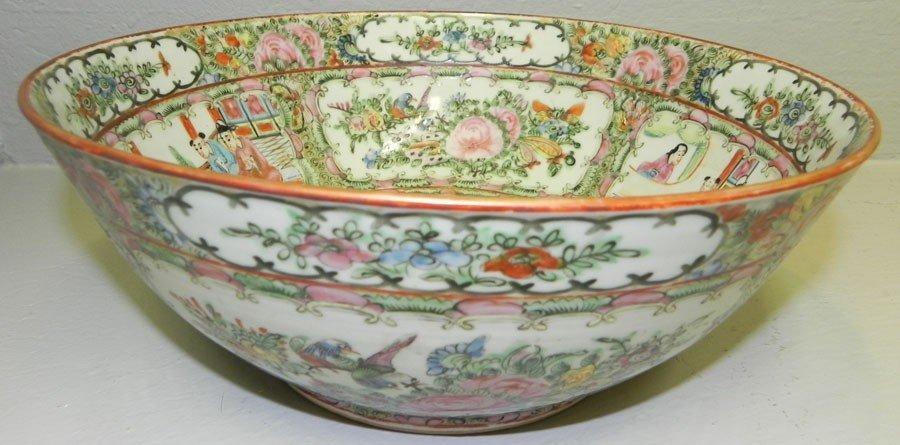 33: Rose Mandarin 19th century bowl.