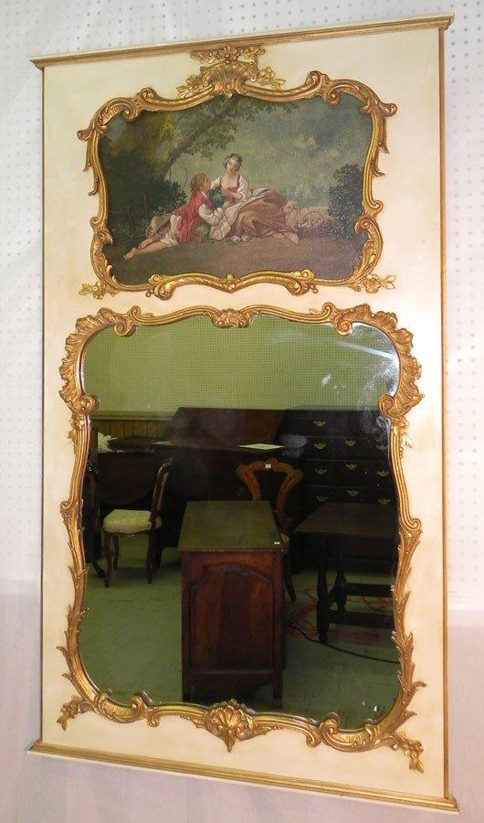 "40: French trumeau mirror. 35 1/2""wide x 60"" tall."