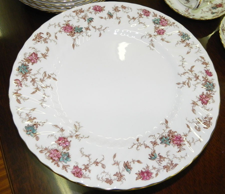 """44: 67 pieces of Minton China in """"Ancestral"""" pattern."""