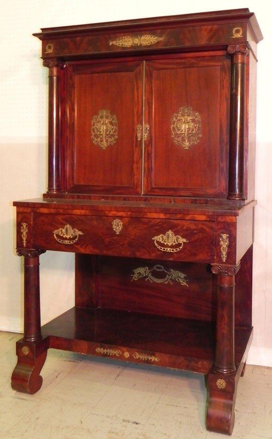 105: French Empire cabinet w/ 18 bronze ormolu mnts