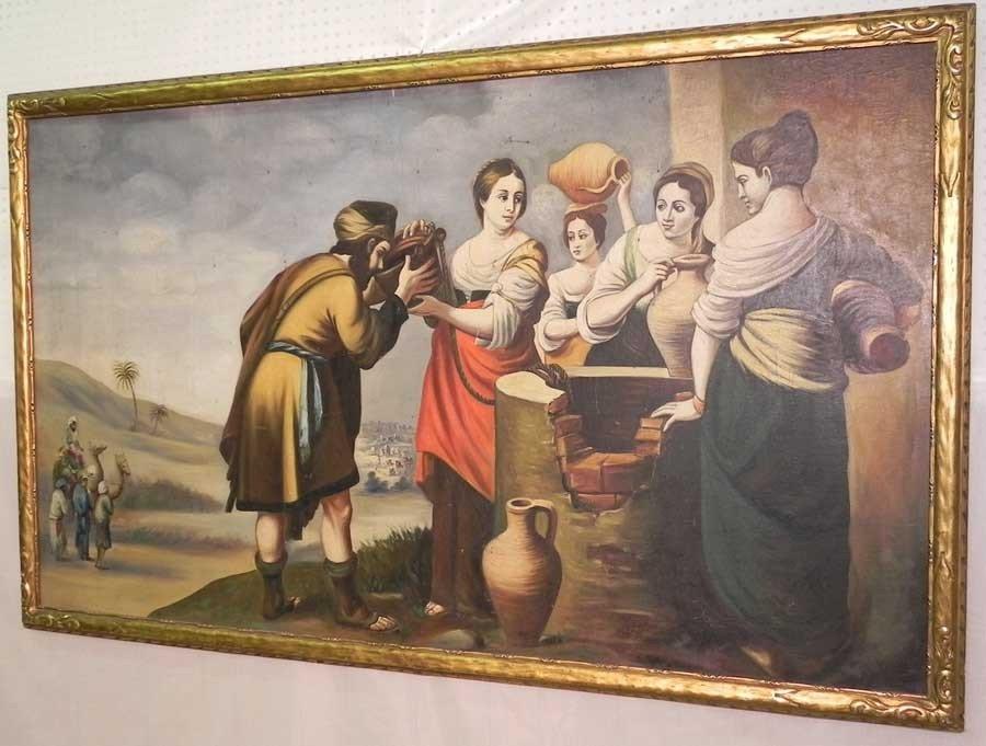 106: Oil on artist board of Biblical scene