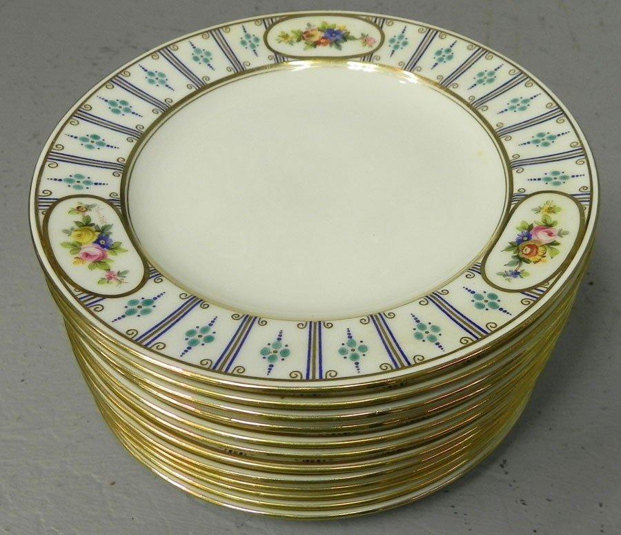 112: (12) Benton dessert plates.