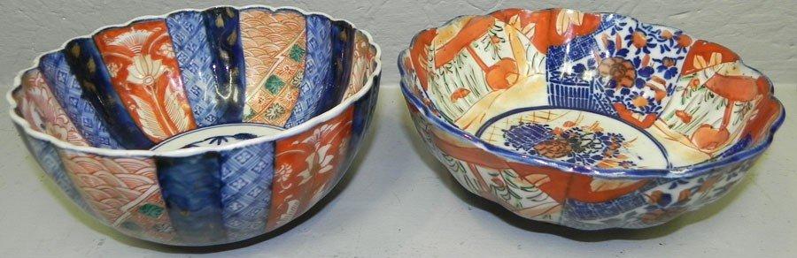 "115: (2) Imari bowls. 6 3/4"" and 7 1/4""."