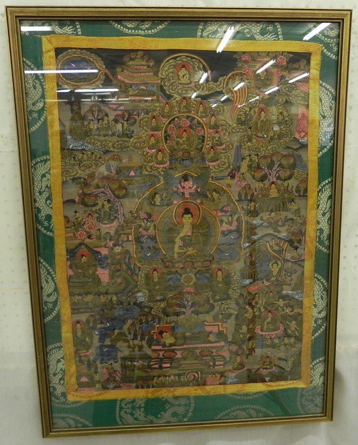 118: Oriental needlework on silk