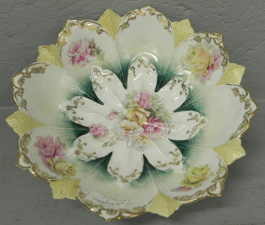 4: R.S. Prussia hand painted floral bowl.