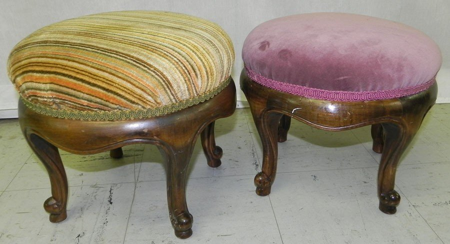 8: (2) French stools.