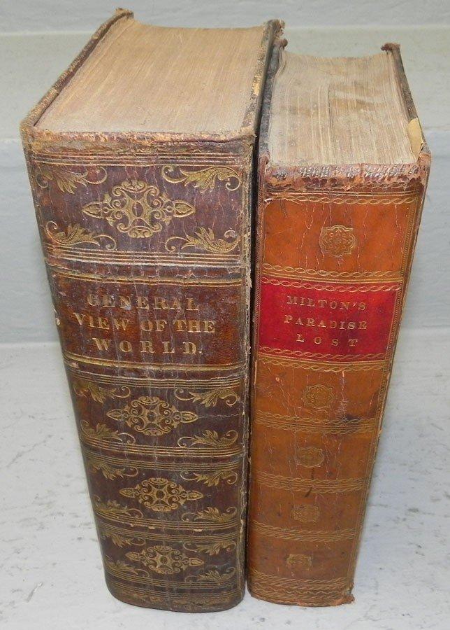 19: (2) leather bound books. circa 1804.