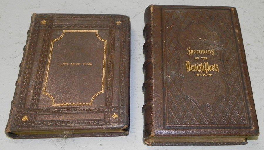 21: (2) leather bound books.