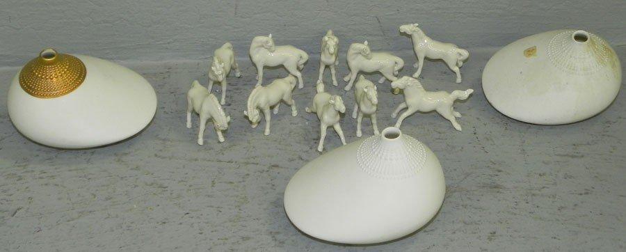 14: 10 miniature horses & Rosenthal scent bottles.