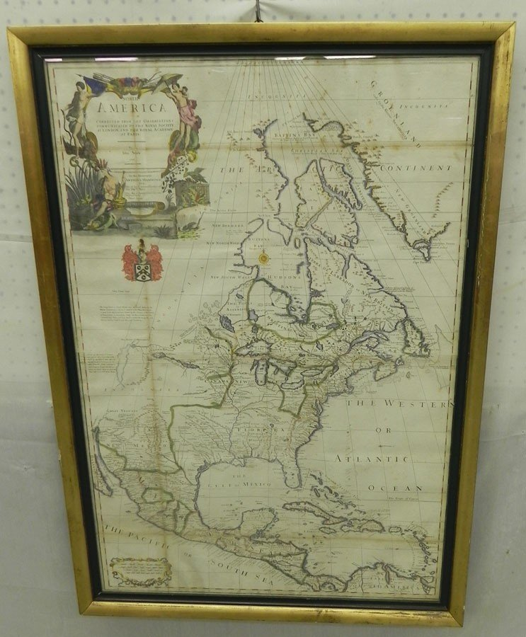 142: Map of North America by John Senex dated 1710.