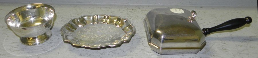 1: (3) pieces of silver plate
