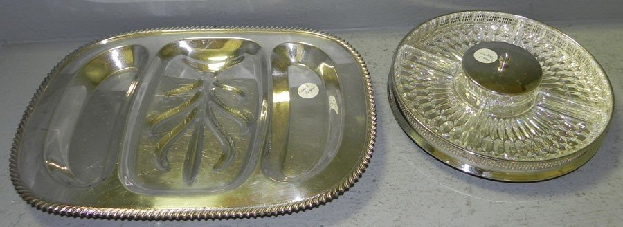 6: Glass and SP hors d'ouerve tray & SP meat tray