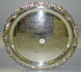 Silver Plate Gallery Tray By Sheraton.