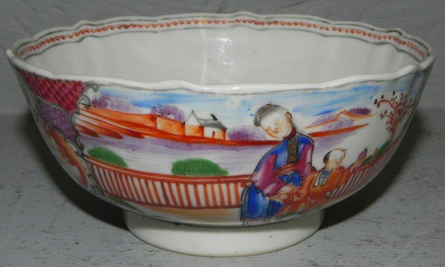 "74: 18th century small export bowl. 5 1/2"" diameter."
