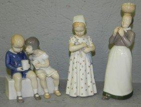(3) Danish Porcelain Figurines.