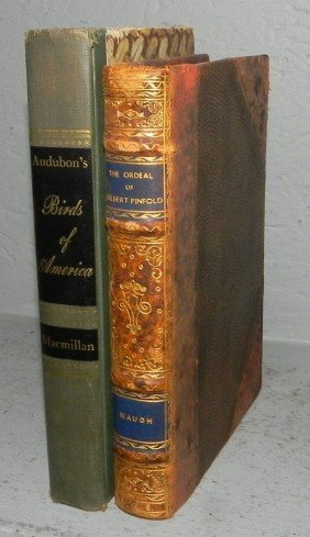 "Leather Bound Book & Audubon ""Birds Of America"""