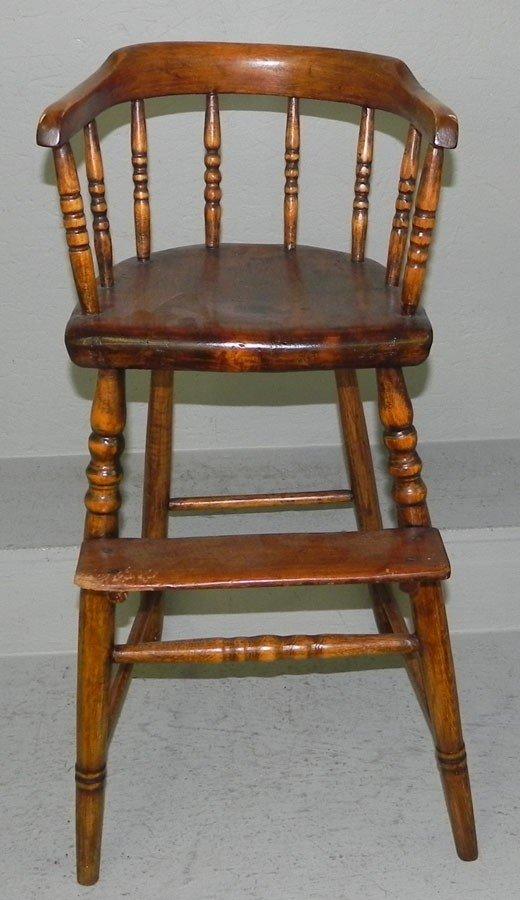93: Child's 19th century high chair.
