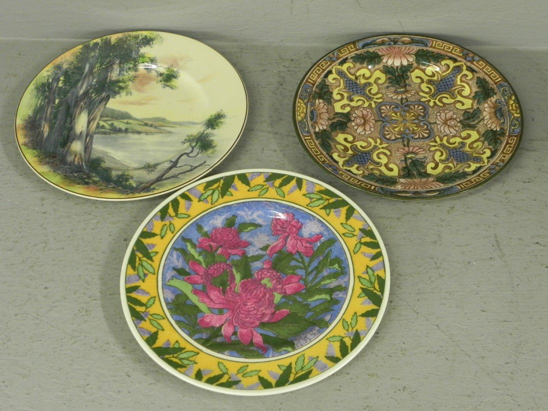 103: (3) Royal Doulton hand decorated plates