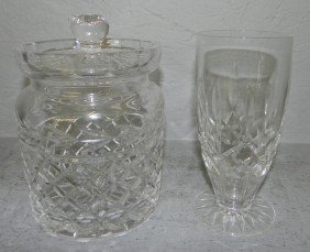 Waterford Water Glass And Ice Bucket.