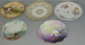 (5) Hand Painted Victorian Type Plates.