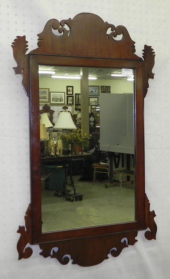 144: Chippendale style mirror.