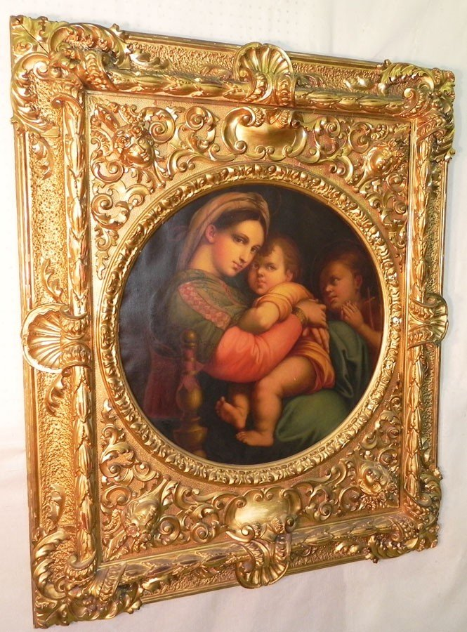480: Oil on canvas in Victorian gold leaf jellif frame