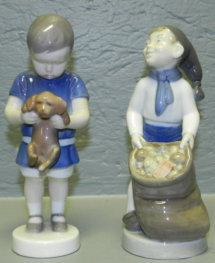 2: B& G figurine and Royal Copenhagen figurine