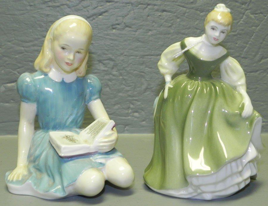 3: (2) Royal Doulton figurines Alice & Fair Maiden